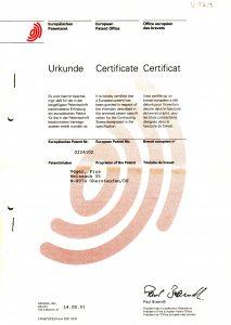 Patentschrift Europa