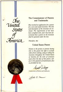 Patentschrift USA
