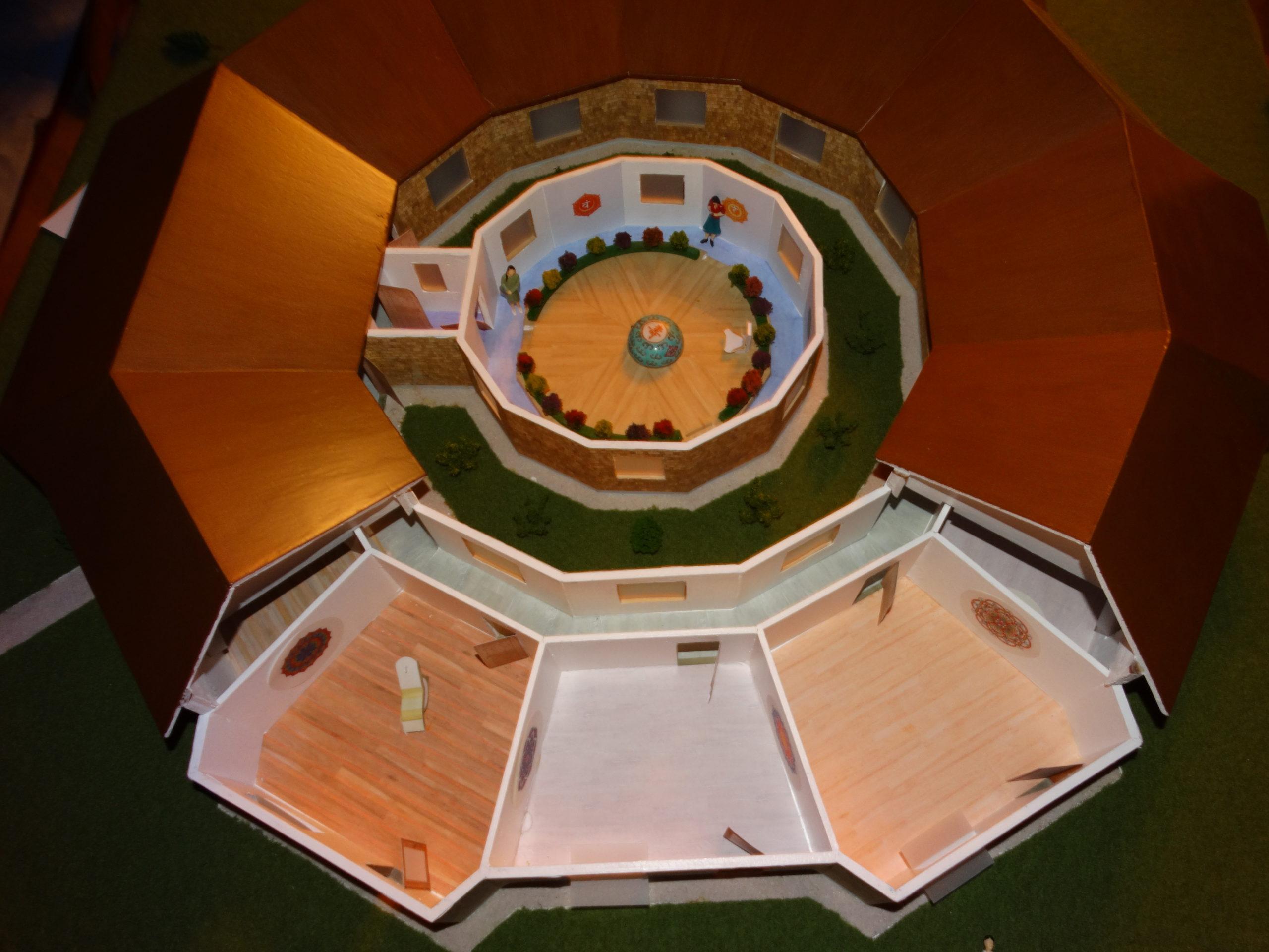 Modell für einen Power-Tempel
